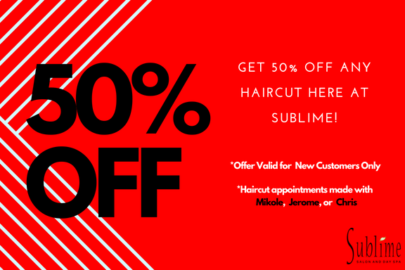 Sublime Salon Haircut Coupon